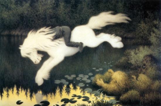 Gutt Paa Hvit Hest